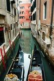 Gondels - Venetië - Italië Royalty-vrije Stock Foto's