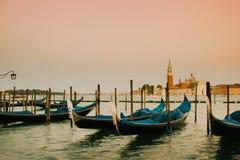 Gondels Venetië, Venezia, Italië, Europa royalty-vrije stock foto's