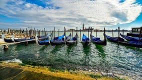 Gondels in Veneti? royalty-vrije stock afbeelding