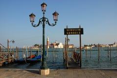 Gondelservice in Venedig Stockbild