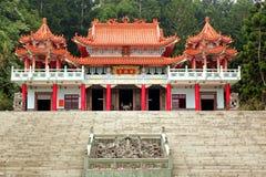 Gonden De Tempel i kullarna av Taiwan Arkivbilder