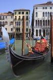 Gondol i Venedig Arkivbilder