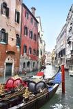 Gondol i Venedig Arkivfoto