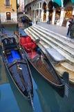 Gondol i Venedig Royaltyfria Foton