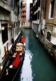 Gondol i Venedig royaltyfri bild