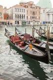 Gondol i Venedig i Italien Royaltyfri Bild
