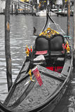 Gondol i Venedig, Italien Arkivfoton