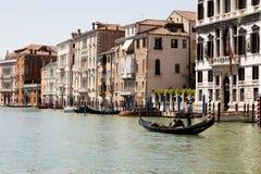Gondol på Rio Grande, Venedig Royaltyfri Foto