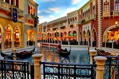 Gondol på Venetian Royaltyfria Bilder