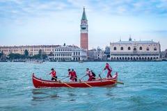 Gondol San Marco, Venedig, Italien royaltyfri fotografi