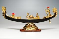 Gondola. Goldish venice gondola isolated on white Royalty Free Stock Image