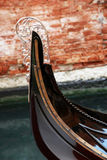 Gondola. A closeup of a typical venetian gondola stock photo