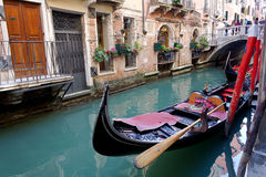 Gondola. Gondola at the typical Venice street Royalty Free Stock Image