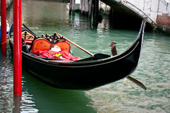 Gondola. Boat on one of he canals in Venice Royalty Free Stock Images