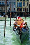 Gondola. With bright luxury seat on the waves - 18 May 2012 Venice, Italy Stock Image