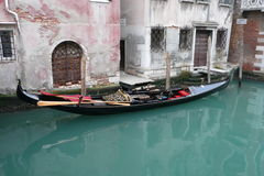 The gondola. Some pictures of the real typical boat of Venice: the gondola Royalty Free Stock Photos
