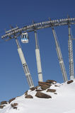 Gondola. /ski lift in the france alps royalty free stock photography