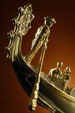 Gondola. Golden gondola Stock Photo