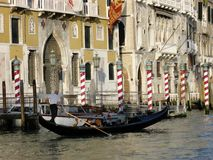 Gondola. Beautiful gondola on the big channel in the city of Venice Italy Royalty Free Stock Photography