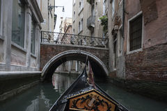 With a Gondola around Venice. From a Trip with a Gondola around Venice, Italy Stock Image