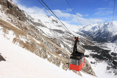Gondola At Elbrus Mountain. Russian Federation Stock Images
