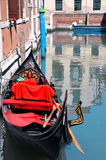 Gondola black and red Stock Images