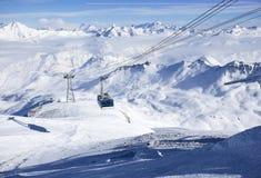 Gondola blisko szczytu Obrazy Royalty Free
