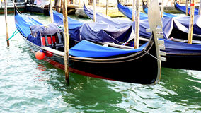 Gondola boats floating Royalty Free Stock Photos