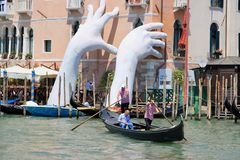 The city of Venice, Italy - grand canal Stock Photos