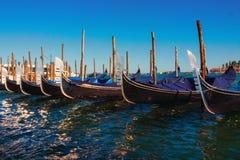 Gondola boats near Piazza San Marco Stock Photography
