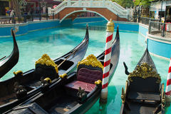 Gondola boats Stock Photography