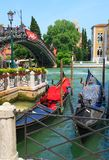 Gondola boats in Venice Stock Images