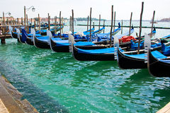 Gondola boats in Venice Stock Photography