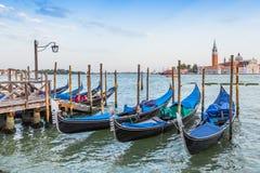 Gondola boats in Venice, Italy Stock Images