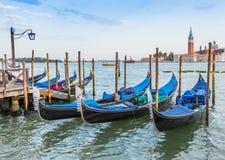 Gondola boats in Venice, Italy Royalty Free Stock Photography