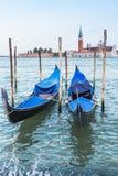 Gondola boats in Venice, Italy Stock Photography