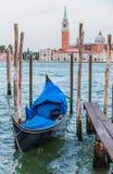 Gondola boats in Venice, Italy Stock Photo