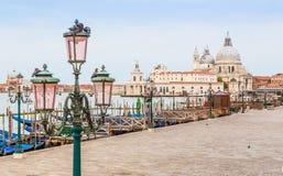 Gondola boats in Venice, Italy Royalty Free Stock Image