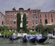 Gondola and Ca Corner Martinengo Rava, Venice Royalty Free Stock Photos