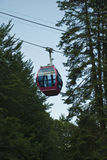 Gondola on cable at mountain stock photo