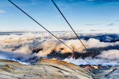 Gondola cables going up Royalty Free Stock Images