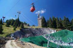 Gondola and cableway, Romania, Sinaia. 1400 m Royalty Free Stock Photography