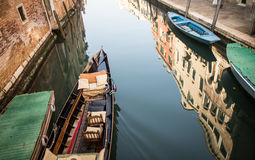 Gondola on the canal Royalty Free Stock Images