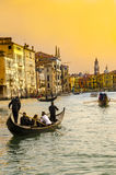 Gondola on Canal Grande, Venice Stock Photography
