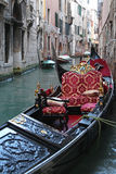 Gondola in canal Stock Images