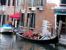 Gondola on a canal in Venice Royalty Free Stock Photography