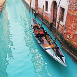 Gondola in a canal Royalty Free Stock Image