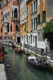 Gondola on the canal in venice, italy Stock Photos