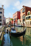Gondola on a canal in Venice, Italy Royalty Free Stock Images