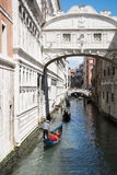 Gondola on canal in Venice, Italy Stock Photo